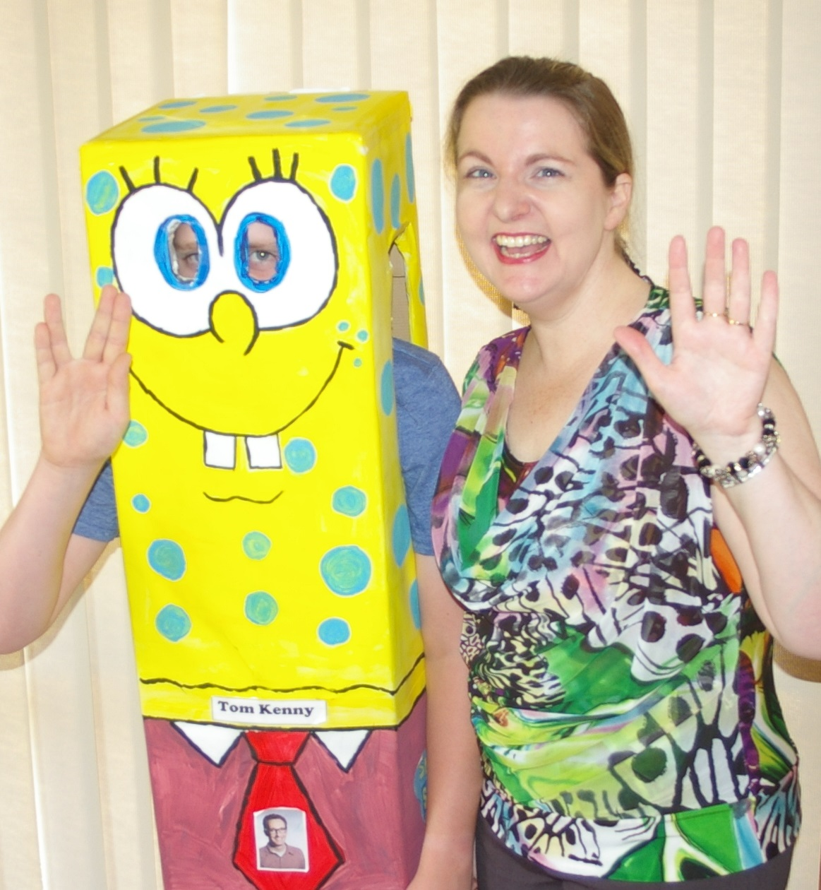 Cherie Curtis with SpongeBob SquarePants