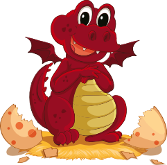 "Creative Dragons mascot, dragon hatching, artist ""iimages"" via www.123rf.com"